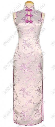 Elegant Plum Blossom Brocade Cheongsam