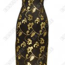 Attractive Gold Pattern Silk Cheongsam