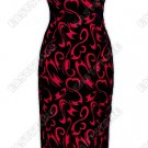 Graceful Floral Pattern Burn-Out Velvet Cheongsam