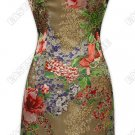 Fashionable Burn-out Silk Cheongsam