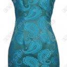 Fashionable Mandarin Bracade Dress