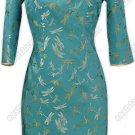 Traditional Dragonfly Silk Brocade Dress