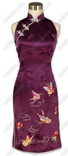 Die Wu Embroidered Silk Cheongsam