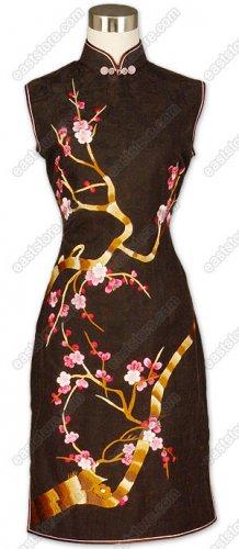 Mei Hua Embroidered Xiang Yun Sha Cheongsam