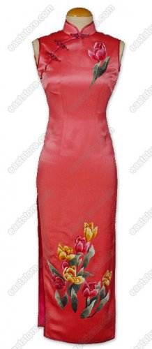 Glamorous Tulip Embroidered Silk Dress