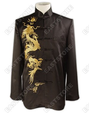 Cool Dragon Embroidered Silk Jacket