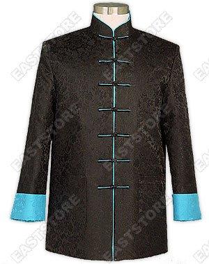 Dragon Pattern Quilted Silk Brocade Man Jacket