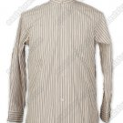 Brown and Lavender Striped Cotton Shirt