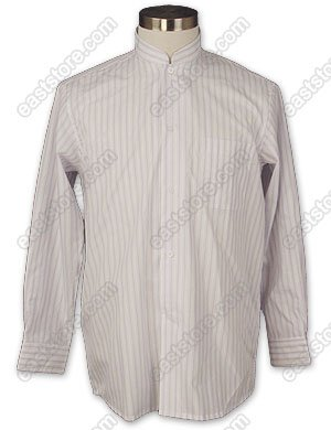 Lavender Striped Cotton Shirt