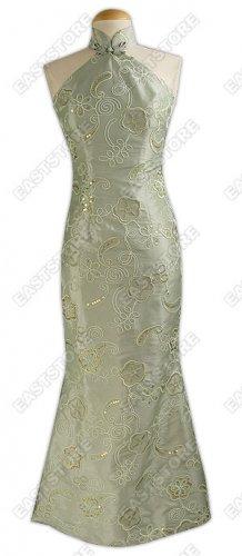 Unique Floral Embroidered Fishtail Dress