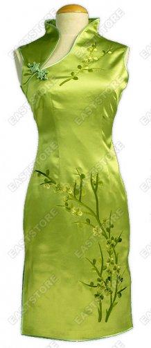 Unique Plum Blossom Embroidery Knee-Length Dress
