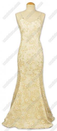 Magnificent Floral Burn-Out Silk Fishtail Dress