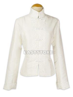 Feminine Thai Silk Jacket With Lace