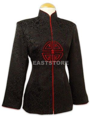 Chic Longevity Button Silk Jacket