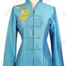 Lakeblue Embroidered Dragon Jackets