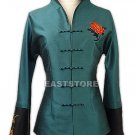 Graceful Embroidery Thai Silk Jacket