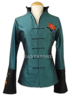 Graceful Embroidery Thai Silk Jacket