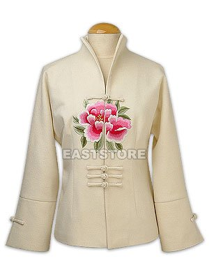 Stunning Peony Embroidery Jacket
