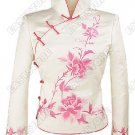 Miraculous Flowers Embroidered Silk Jacket