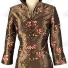 Seductive Floral Embroidered Thai Silk Blouse