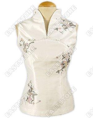 Paillettes Adorned Thai Silk Blouse
