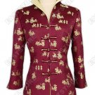 3/4-Length Sleeves Silk Brocade Jacket