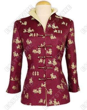3/4-Length Sleeves Silk Brocade Jacket