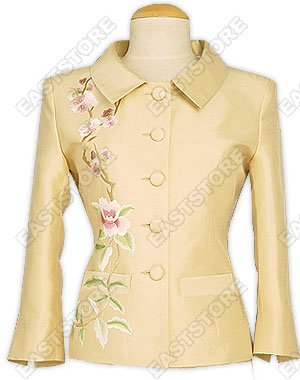 Chic Embroidered Silk Jacket