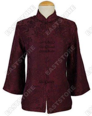 Peony Pattern Silk Blouse