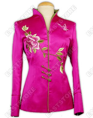 Chic Peony Embroidery Jacket