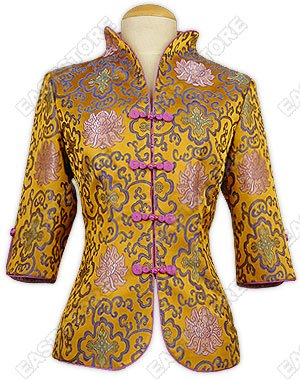 Colorful Fu Gui Flower Brocade Jacket