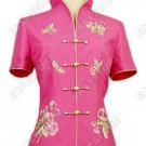 Flower Embroidery Thai Silk Blouse