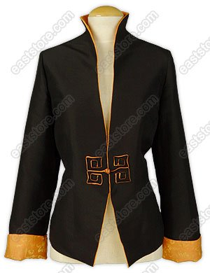 One Button Chinese Silk Jacket