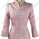 3/4-Length Sleeves Floral Brocade Jacket
