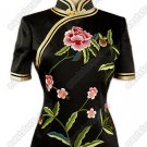 Splendiferous Floral Embroidered Silk Blouse