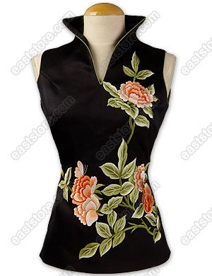 Flourishing Peony Embroidered Blouse
