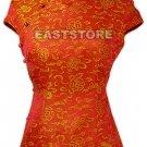 Oriental Longevity Cap Sleeves Blouse