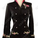 Dazzling Embroidered Flowers Silk Jacket