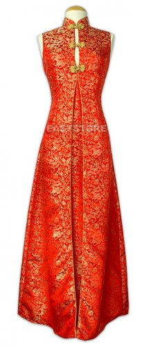 Chinese Party Dress-Noble Dragon Brocade Dress