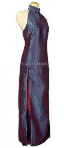 Chinese Evening Dress-Shining Half-back Dress