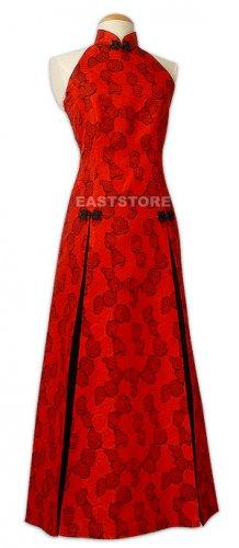 Red Rose Brocade Wedding Dress