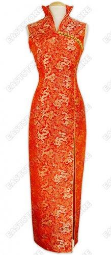 Chinese Dragon Brocade Dress