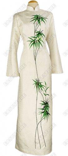 Junoesque Bamboo Embroidered Silk Brocade Cheongsam