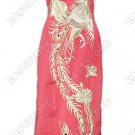 A-one Silver Phoenix Embroidered Silk Cheongsam