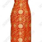 Fu Gui Flower Pattern Silk Brocade Cheongsam