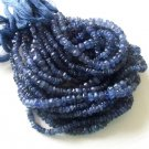 IOLITE FACETED RONDELLES