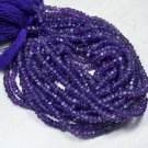 AFRICAN AMETHYST FACETED RONDELLES 3MM FULL 14 INCH STRAND