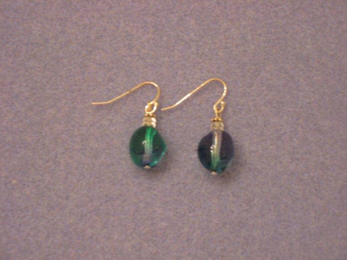Blue/Green Glass Earrings