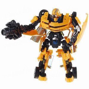 Sport Car Transformer Robot Model (Black + Yellow)