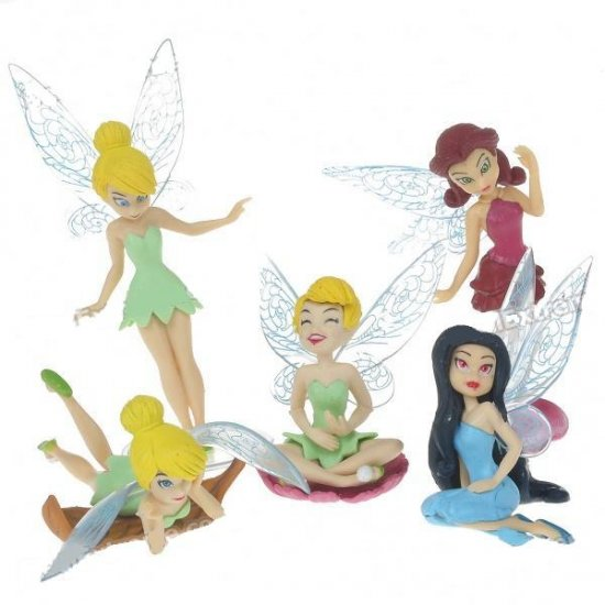 Stylish Disney Fairy PVC Figures Set (5-Figure Pack)